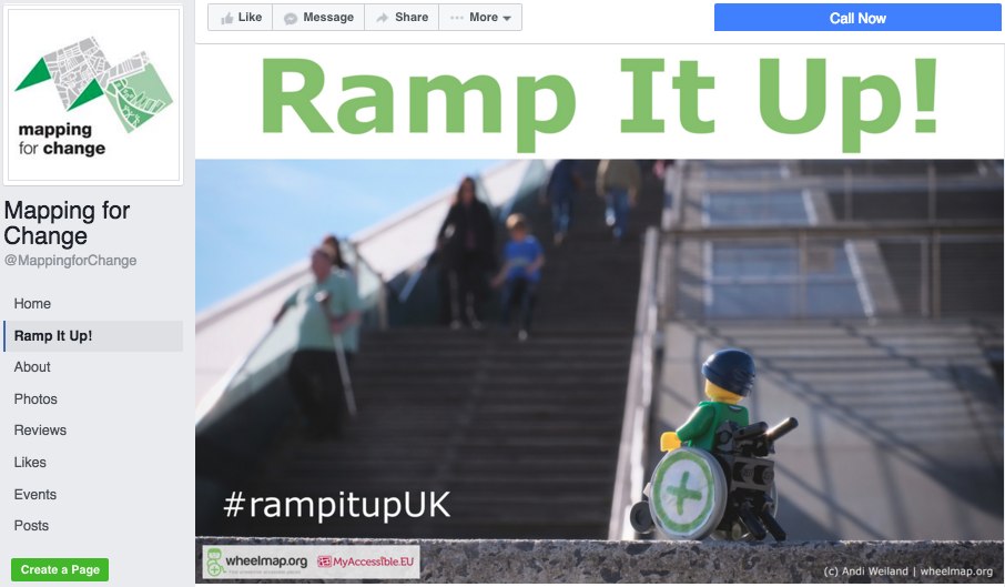 Ramp it up! – Screenshot: Facebook Page of Mapping for Change