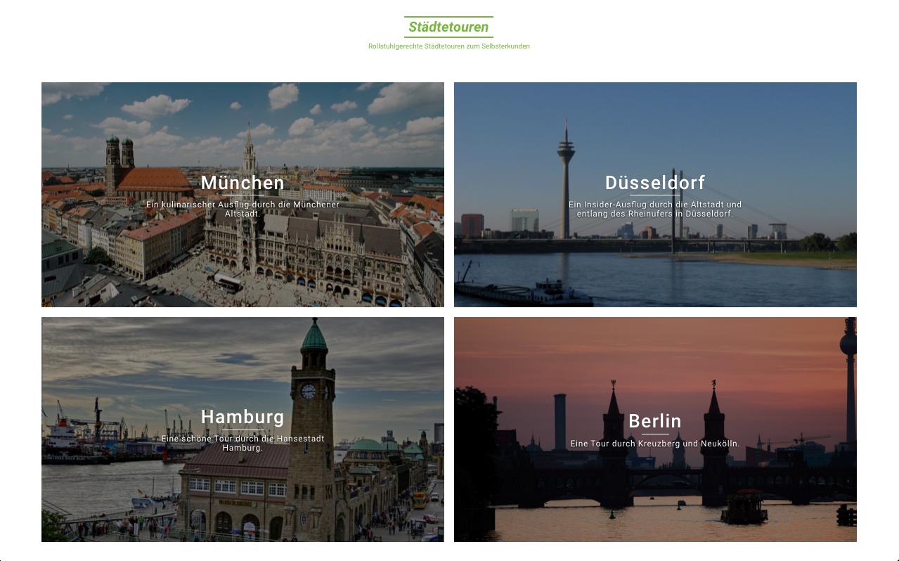 Übersicht der Städtetouren auf Travelable.info