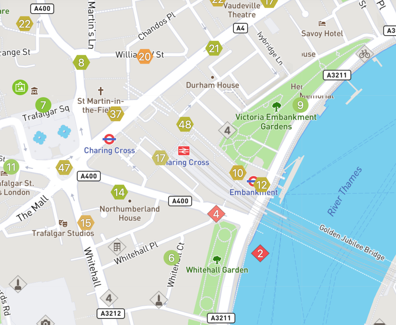 Map view of Wheelmap in London